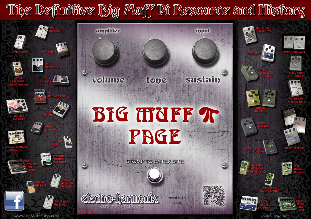 Big Muff home page graphic