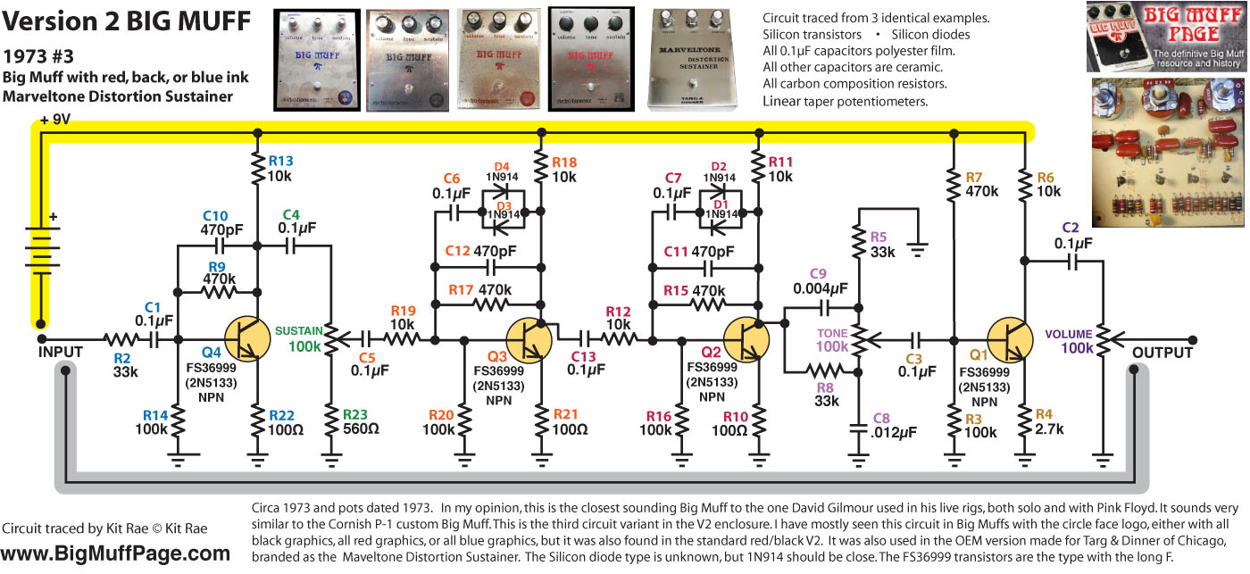 big muff pi versions and schematics Auto Wiring Diagrams v2 \