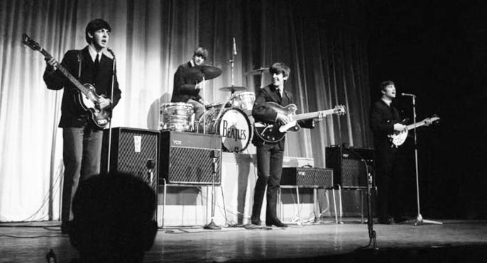 Image result for beatles on Royal Variety 1963