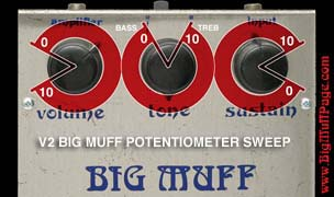 V2 BIG MUFF POTENTIOMETER SWEEP