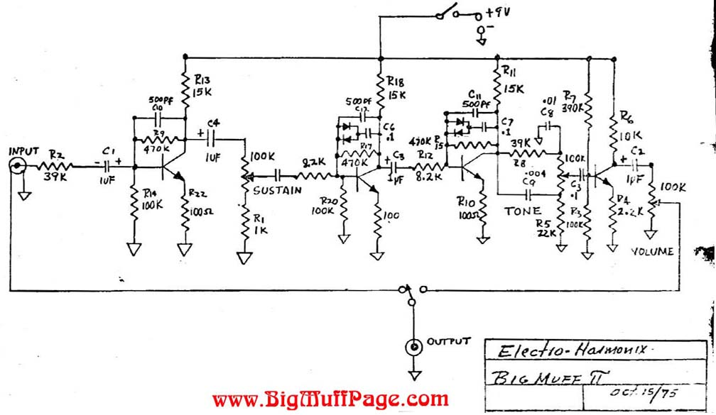 big muff pi schematic