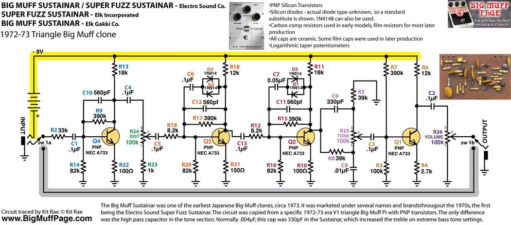 Fuzz Schematic - Enthusiast Wiring Diagrams • on fuzz pedal layout, vibrato pedal schematic, love pedal schematic, bass fuzz schematic, fuzz face schematic, muff fuzz schematic, fuzz pedal capacitor, compressor pedal schematic, fuzz pedal board, sustain pedal schematic, npn fuzz schematic, wah pedal schematic, tone pedal schematic, sam ash fuzz schematic, distortion pedal schematic, keeley fuzz head schematic, tremolo pedal schematic, loop pedal schematic, animal pedal schematic, germanium fuzz schematic,